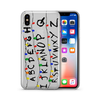 Stranger Run Things - Clear Case Cover - Milkyway Cases -  iPhone - Samsung - Clear Cut Silicone Phone Case Cover