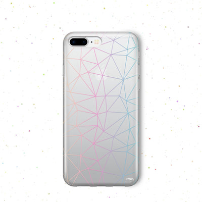 Ombre Geo - Clear Case Cover - Milkyway Cases -  iPhone - Samsung - Clear Cut Silicone Phone Case Cover