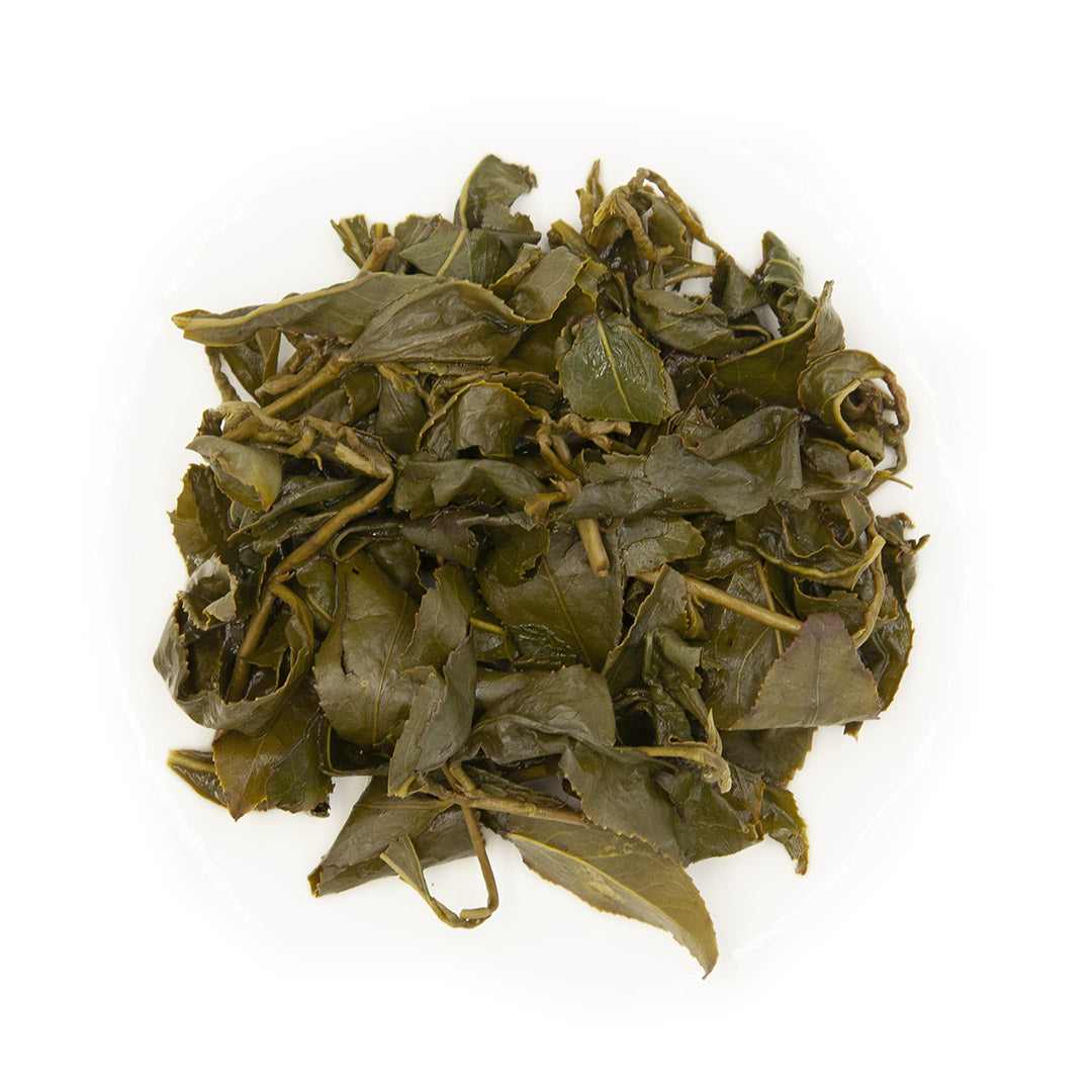 Da Yu Ling High Mountain Oolong Tea, wet leaves