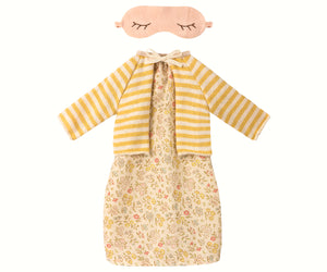Best Friends Night Dress with Yellow Cardigan
