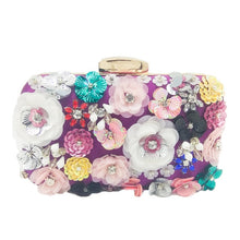 Load image into Gallery viewer, Flower Evening Clutch