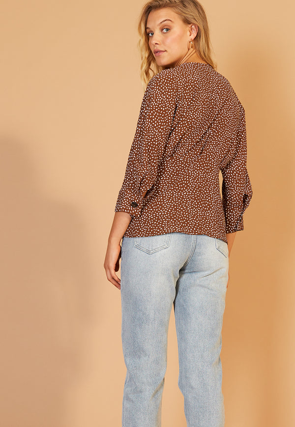 Staple the Label Verse Wrap Top