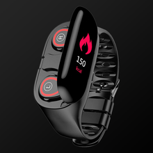 Load image into Gallery viewer, Wav Smartwatch with Built-In Wireless Bluetooth Earbuds