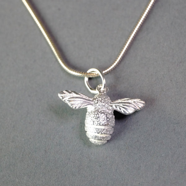 Silver Bee Pendant.