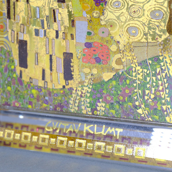 Gustav Klimt 'The Kiss' Glass Clock.