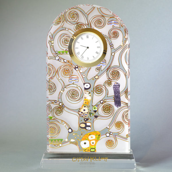 Gustav Klimt 'The Tree of Life' Glass Clock.