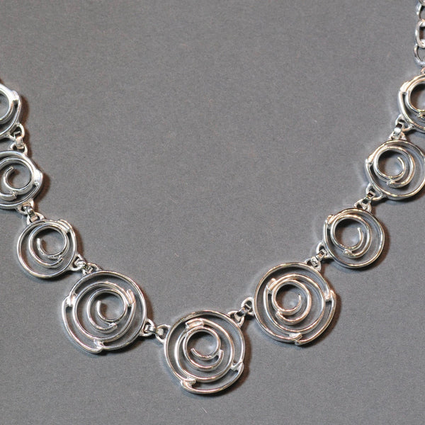 Sterling Silver 'Spirals' Necklace.
