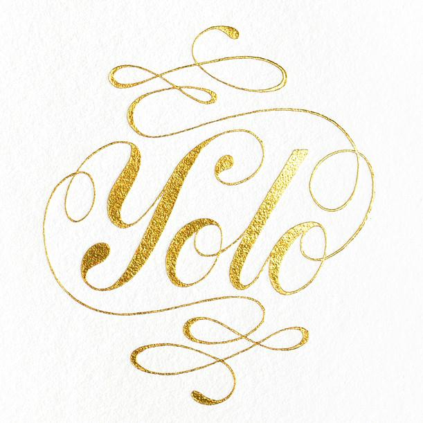 Ashkahn YOLO Greeting Card