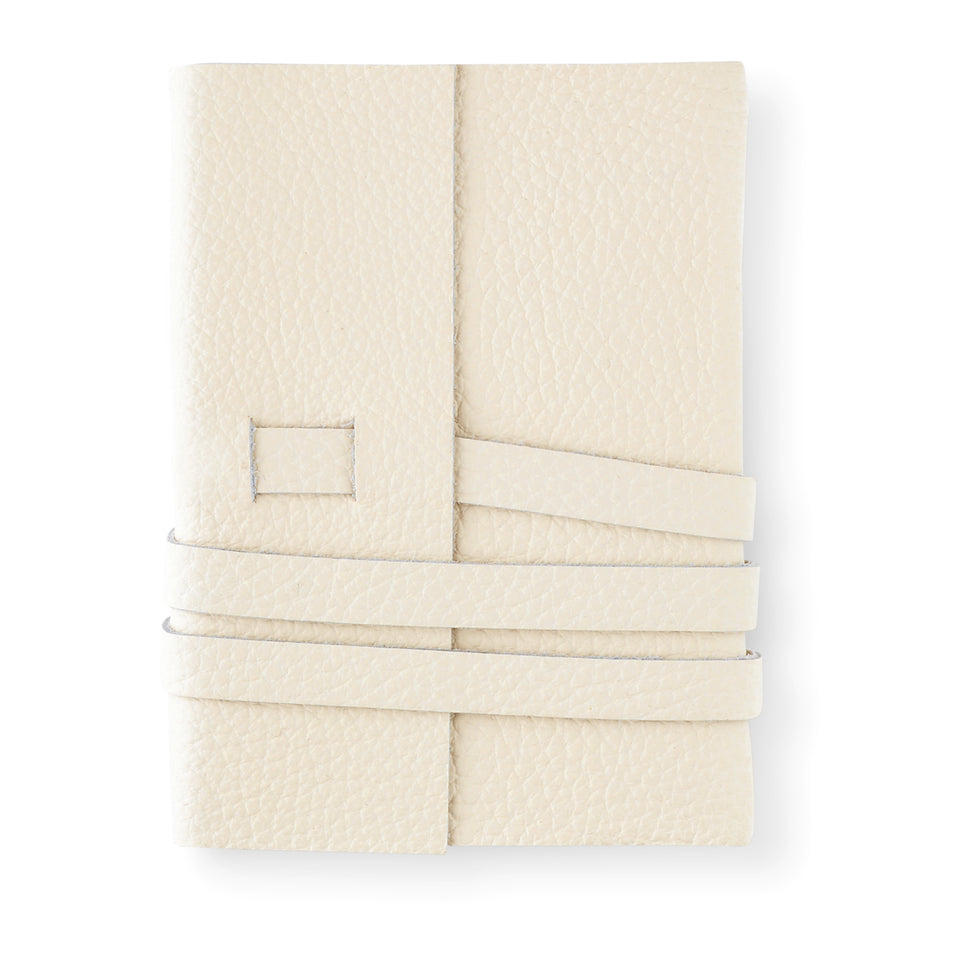 Fine & Candy White Leather Journal