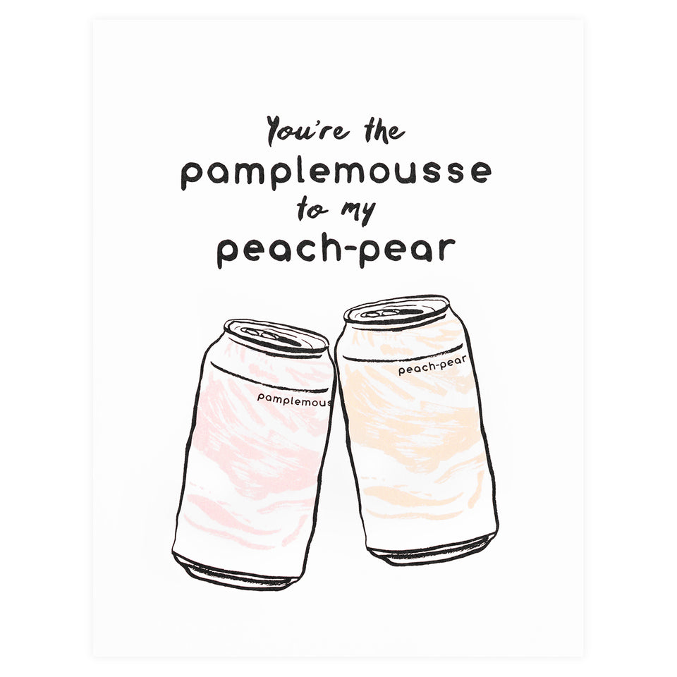 Party Of One Paper Pamplemousse Peach-Pear Greeting Card