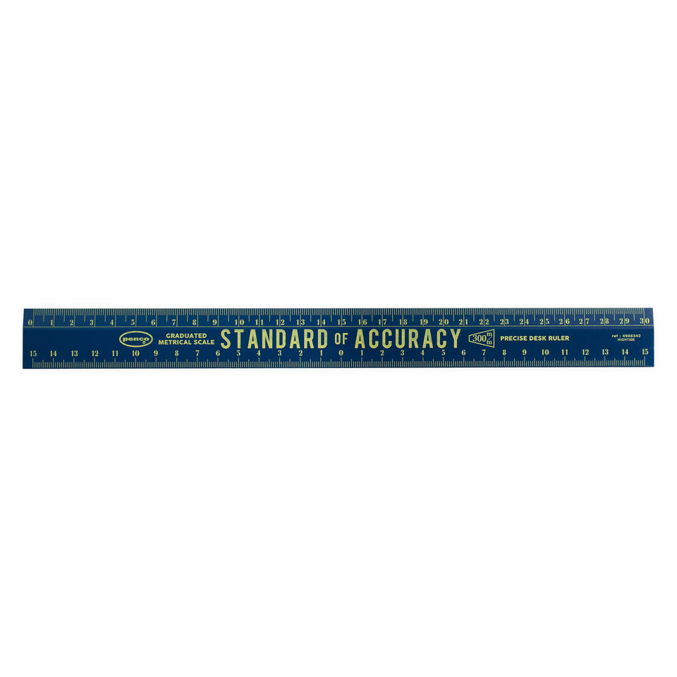 Hightide Penco Wooden Metric Rulers |  Various Colors Navy