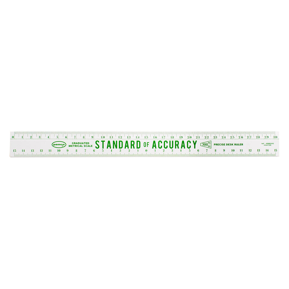 Hightide Penco Wooden Metric Rulers |  Various Colors White