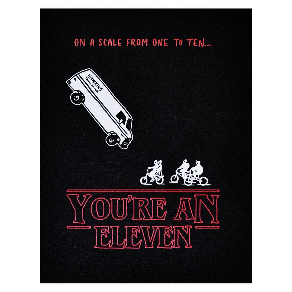 Ladyfingers Letterpress Stranger Things You're an Eleven Greeting Card
