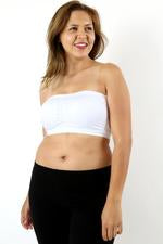 Plus Size Seamless Padded Bandeau in Black Or White