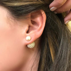 Gold Pearl Pop Emma Studs
