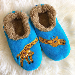 Snoozies Slippers with giraffes