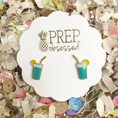 Tropical Drink Signature Enamel Studs by Prep Obsessed