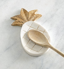 Marble Pineapple Spoon Rest by Mud Pie