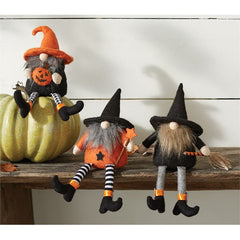 Halloween Dangle Leg Gnomes by Mud Pie - Choice of Style
