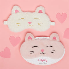 Cat Embroidered Eye Mask