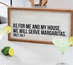 'We Will Serve Margaritas' Box Sign by PBK