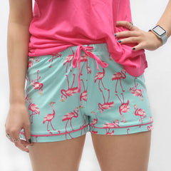 Let's Flamingle Sleep Shorts