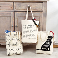 Dog Canvas Tote Bags by Mud Pie