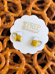 Beer Mug Signature Enamel Studs by Prep Obsessed