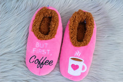 Snoozies! Slippers - But First, Coffee