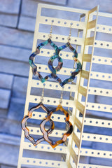 Final Sale: Chaya Quatrefoil Dangle Earrings - 4 colors available