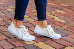 Carter Textile Sneakers by Jack Rogers - White Sparkle