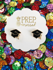 Graduation stud earrings