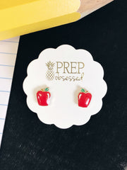 Apple Stud Earrings Great Teacher Gifts at Prep Obsessed