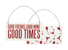 Good Friends, Good Wine, Good Times Ornament by PBK