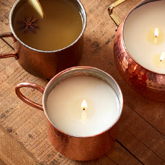 Simmered Cider Copper Mug Candle by Thymes