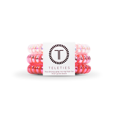 Teleties Hair Tie - Small Band Pack of 3 - Think Pink