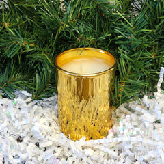 Frasier Fir Gold Votive Candle by Thymes