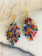 Delilah Palm Acrylic Dangles - Multi