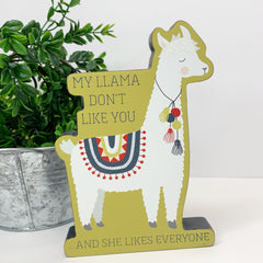'My Llama Don't Like You' Chunky Sitter by PBK
