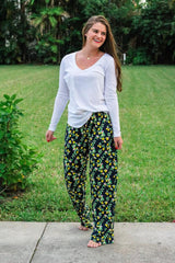 Lemon Drop Dreams Pajama Pants