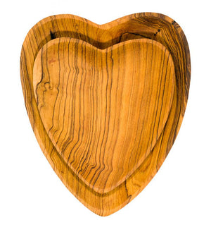 Set of Hand-Carved Heart Serving Dishes - Kitchen Handmade in Africa - Swahili Modern - 2