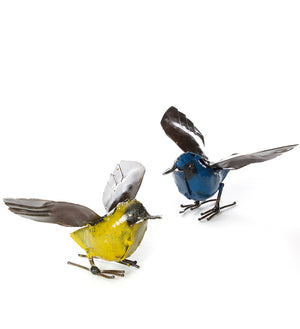 Colorful Fluttering Bird Sculptures