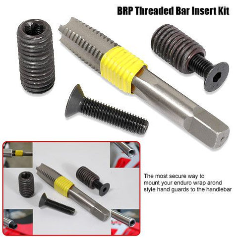 BRP Threaded Bar End Insert Kit with tap