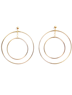 Patricia Field Signature Collection Gold Plated Big Hoop in a Hoop Earrings