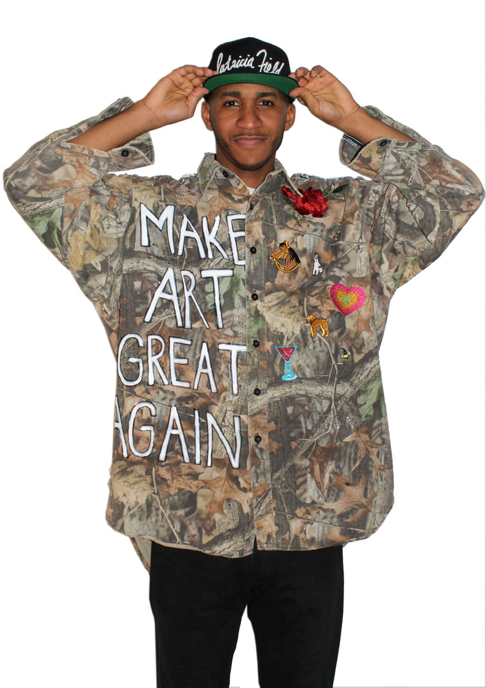 Make Art Great Again Camo Queen Jacket