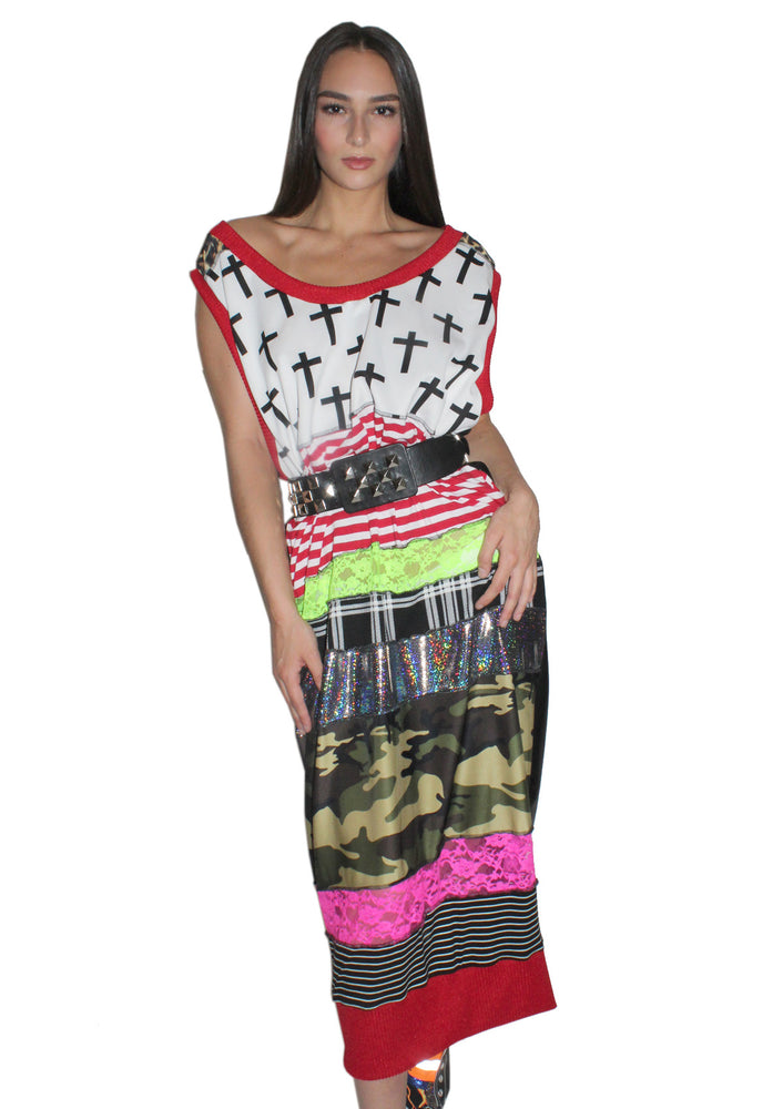DOPE Long Patchwork Dress