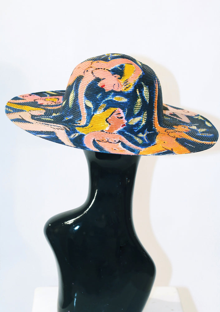 'Skinny Dip' Painted Hat