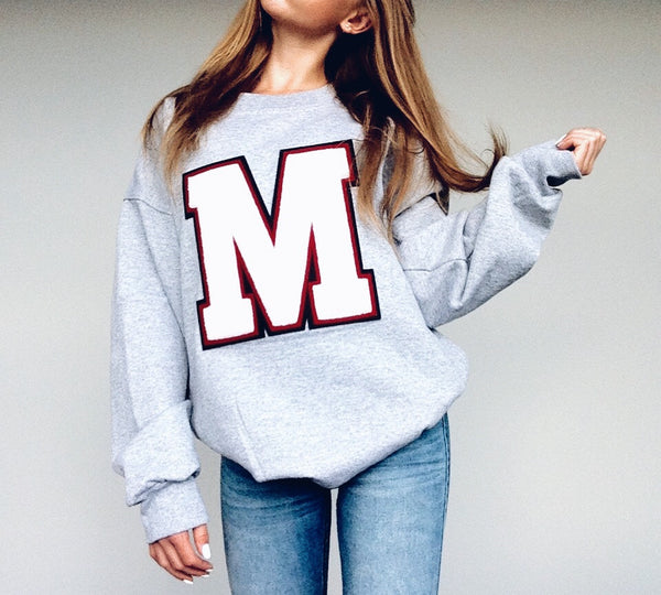SMALL PERSONALIZED Varsity Sweatshirt MADE in CANADA Heirloom Quality