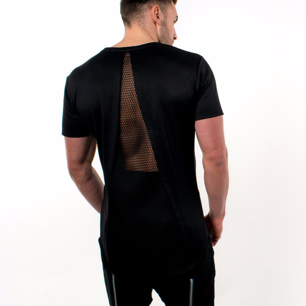 Spinal Envy Tshirt; Black-On-Black