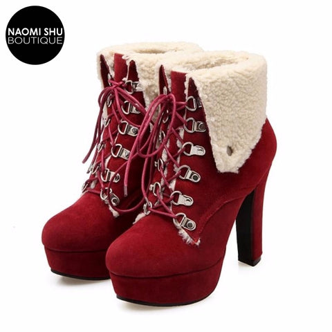 ARVOS Lace Up Platform Bootie